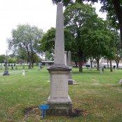 Barnabas Campau Gravestone in Mount Elliot Cemetery
